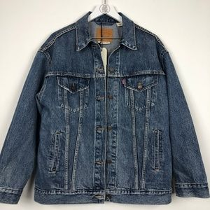 NWT Oversized BIG E LEvi's Premium Trucker Jacket